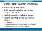2012 pbn program initiatives1