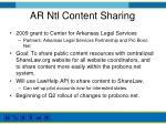 ar ntl content sharing