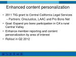 enhanced content personalization