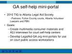 ga self help mini portal
