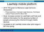 lawhelp mobile platform