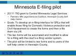 minnesota e filing pilot