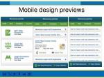 mobile design previews