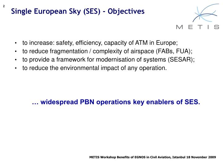 Single european sky ses objectives