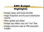 ems budget highlights1