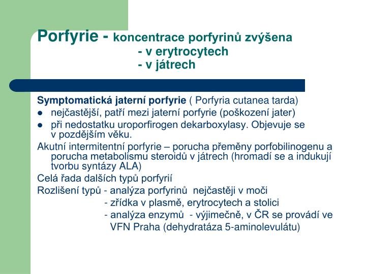 Porfyrie -