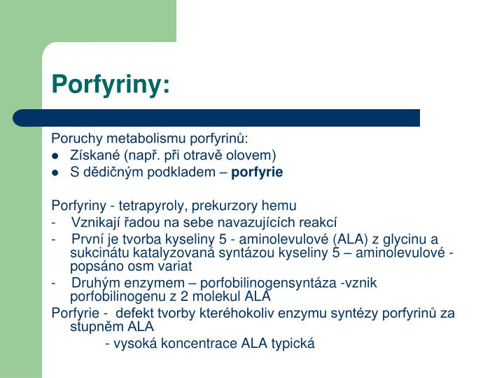 Porfyriny: