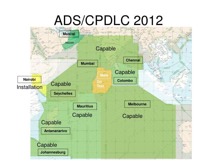 ADS/CPDLC 2012