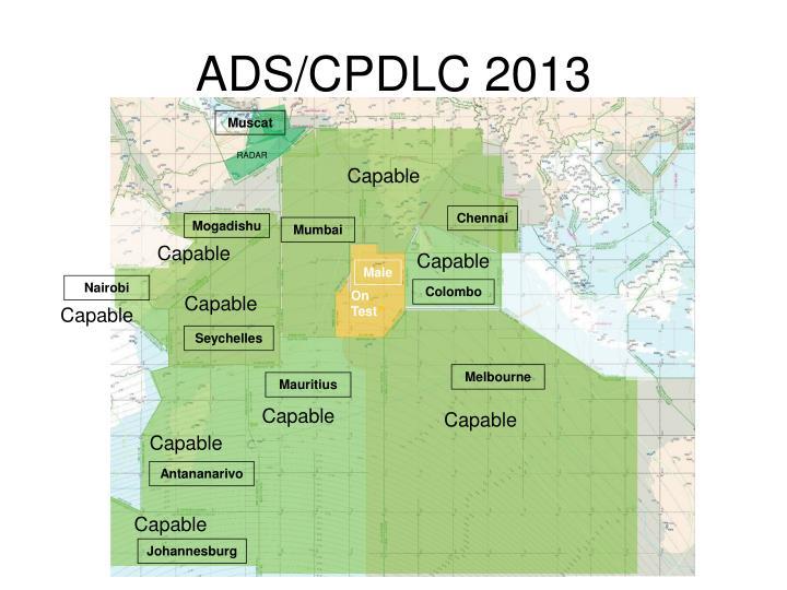ADS/CPDLC 2013