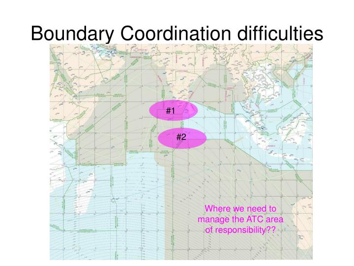 Boundary Coordination difficulties