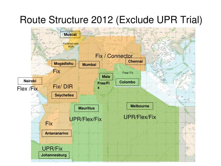 Route Structure 2012 (Exclude UPR Trial)