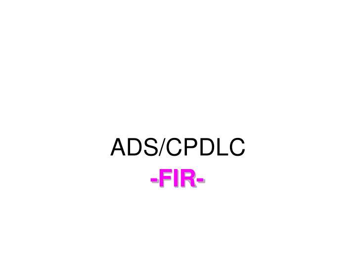 ADS/CPDLC