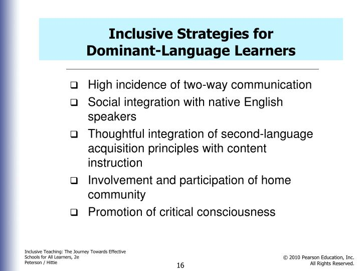 Inclusive Strategies for