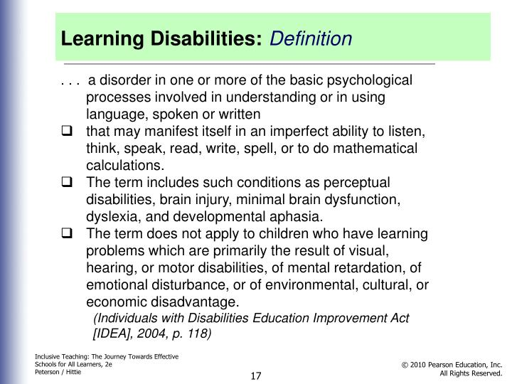 Learning Disabilities: