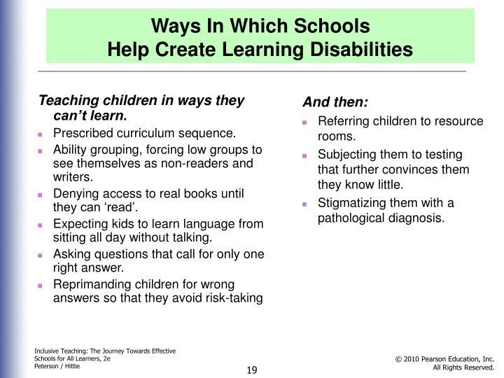 Ways In Which Schools