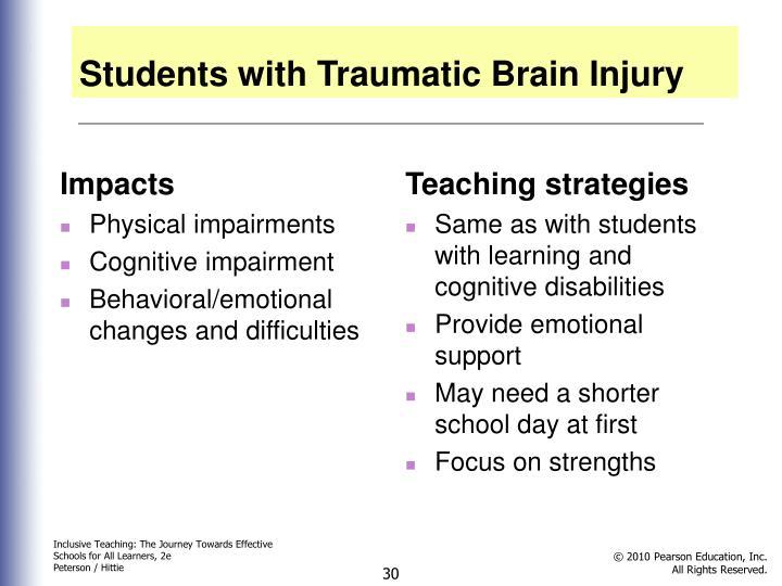 Students with Traumatic Brain Injury