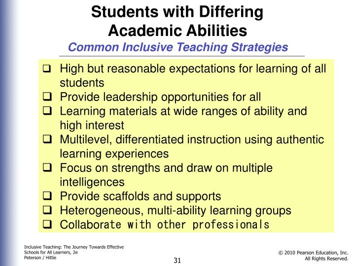Students with Differing Academic Abilities
