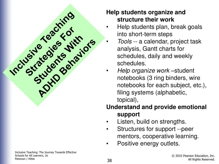 Help students organize and structure their work