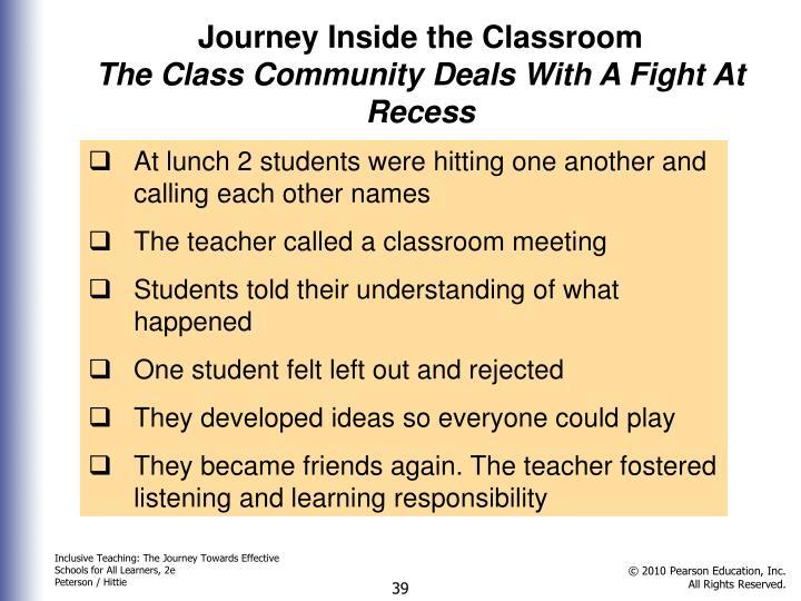 Journey Inside the Classroom