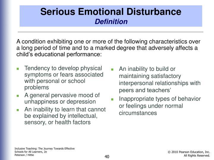 Serious Emotional Disturbance