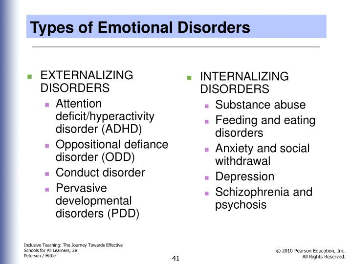 Types of Emotional Disorders