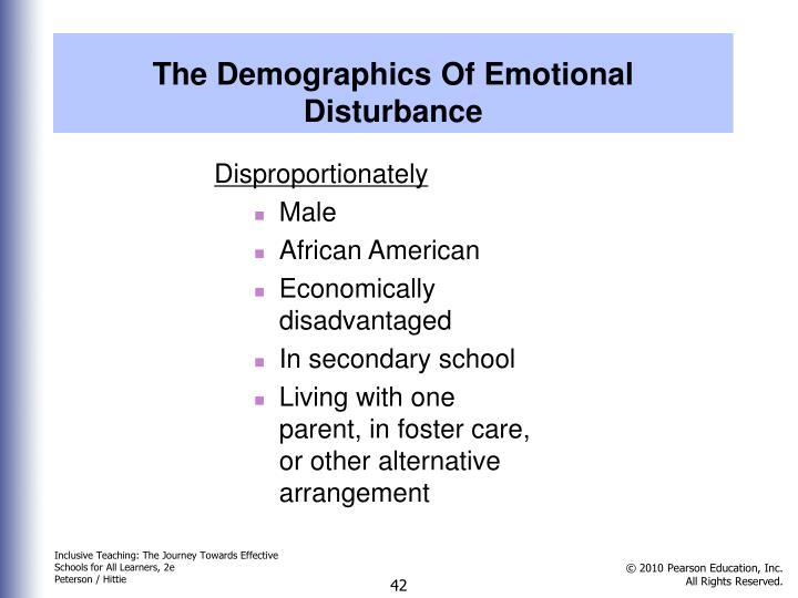 The Demographics Of Emotional Disturbance