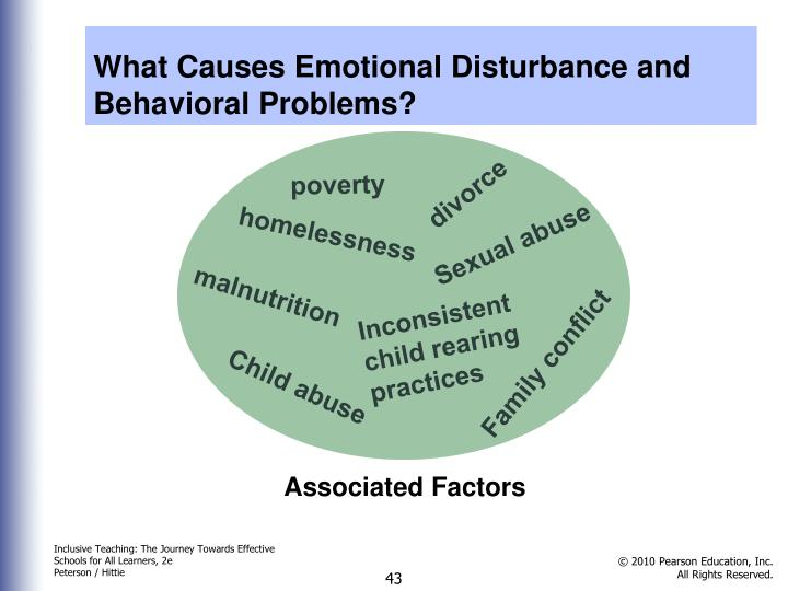 What Causes Emotional Disturbance and Behavioral Problems?