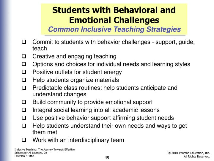 Students with Behavioral and Emotional Challenges
