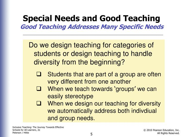 Special Needs and Good Teaching