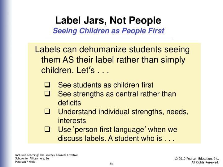 Label Jars, Not People