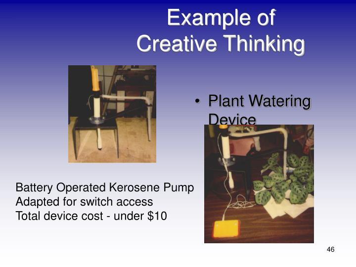 Example of Creative Thinking