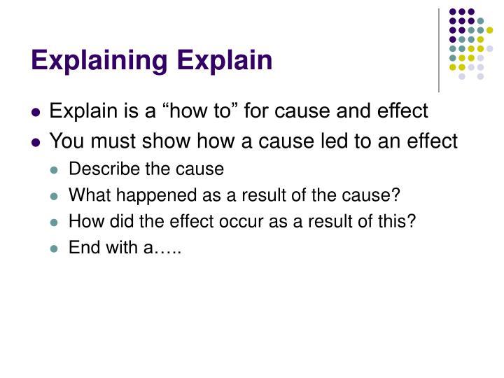 Explaining Explain