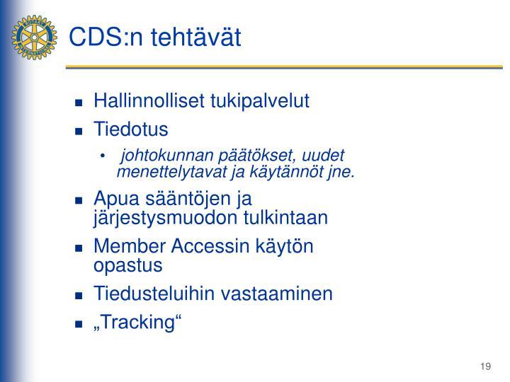 CDS:n tehtävät