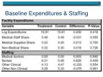 baseline expenditures staffing