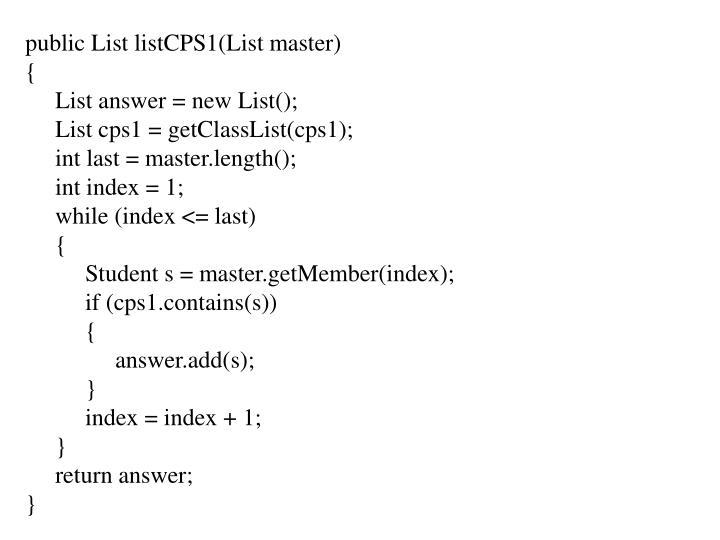 public List listCPS1(List master)