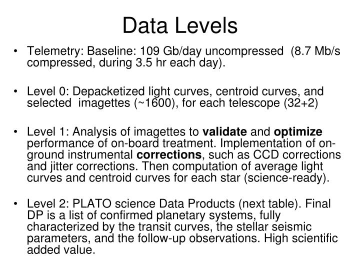 Data Levels
