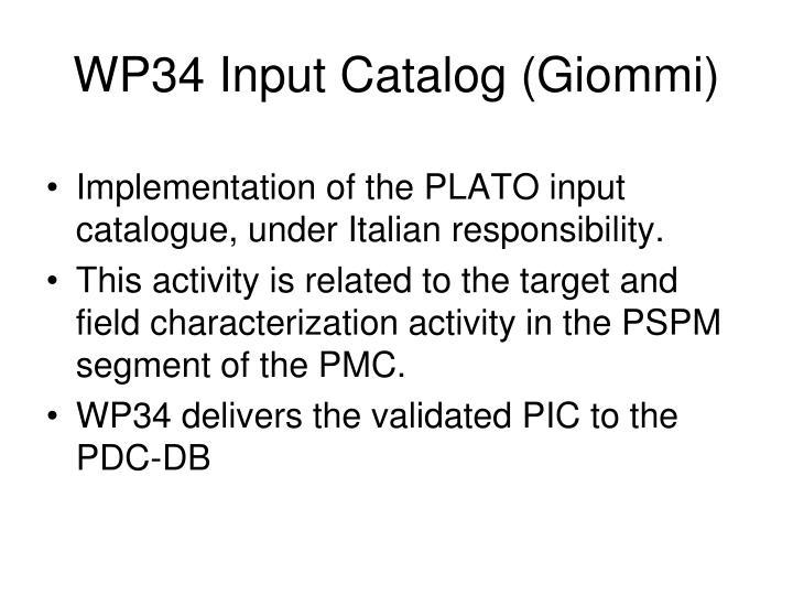 WP34 Input Catalog (Giommi)