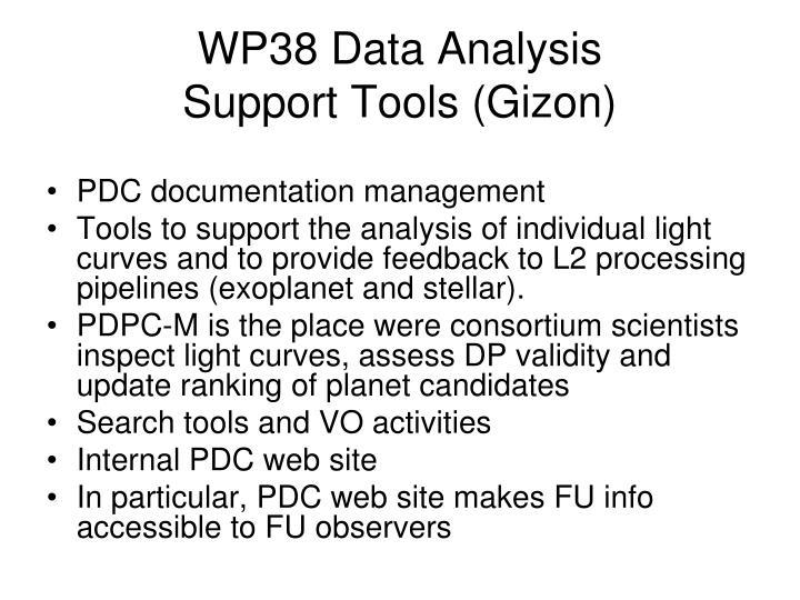 WP38 Data Analysis