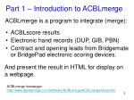 acblmerge is a program to integrate merge