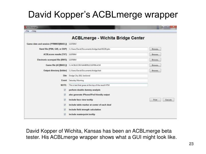 David Kopper's ACBLmerge wrapper
