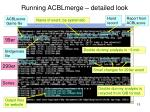 running acblmerge detailed look