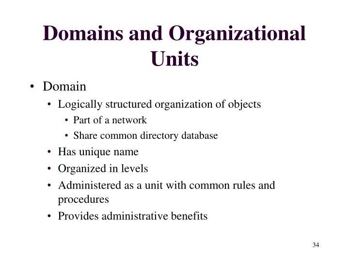 Domains and Organizational Units