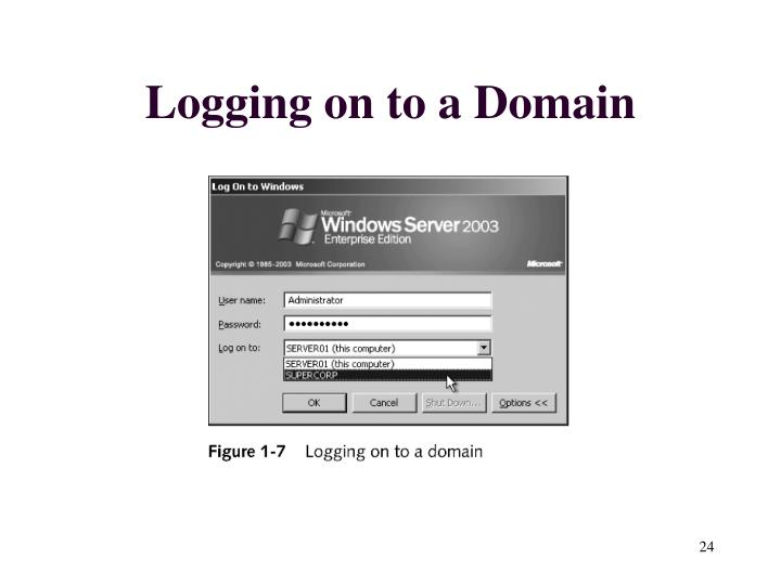 Logging on to a Domain