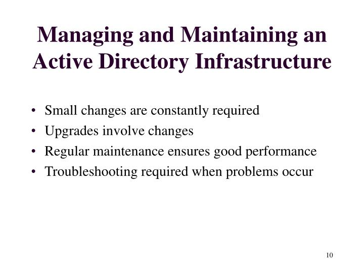 Managing and Maintaining an Active Directory Infrastructure