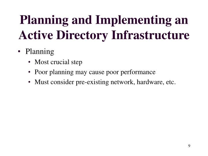 Planning and Implementing an Active Directory Infrastructure