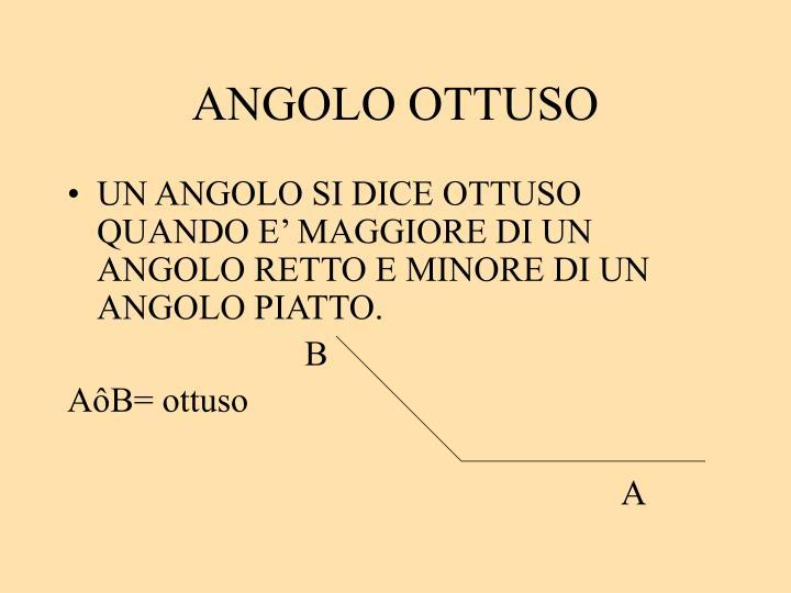 ANGOLO OTTUSO