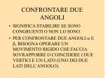 confrontare due angoli