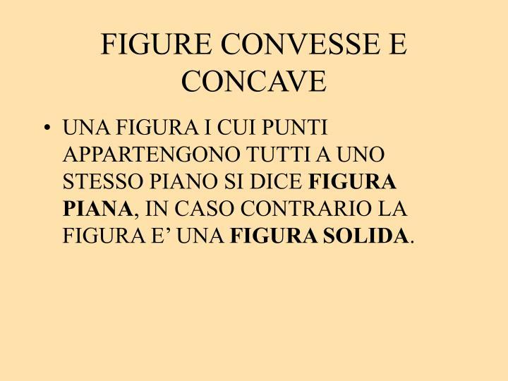 FIGURE CONVESSE E CONCAVE