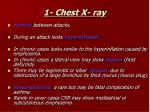 1 chest x ray