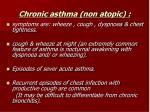 chronic asthma non atopic